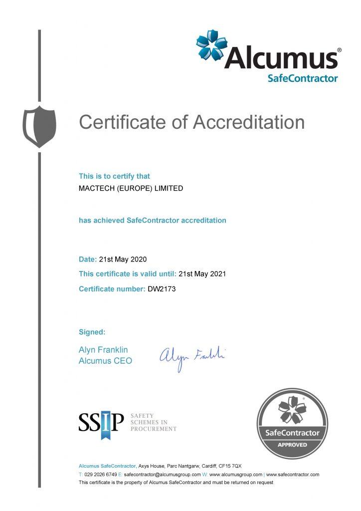 SC Certificate - 21052020