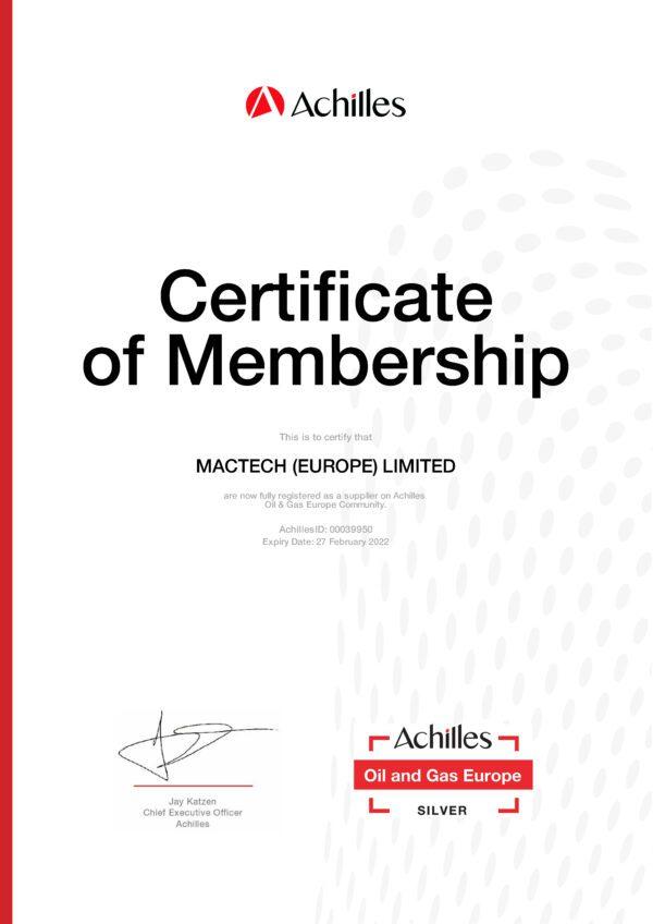 Mactech Europe Cert_Oil & Gas Europe_Silver